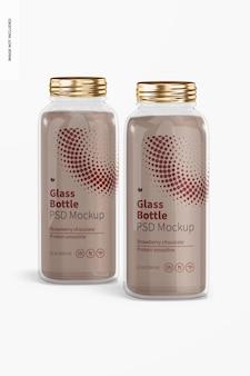 Maquete de garrafas de vidro de 12 onças