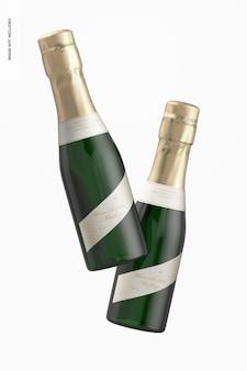 Maquete de garrafas de vinho de 187 ml