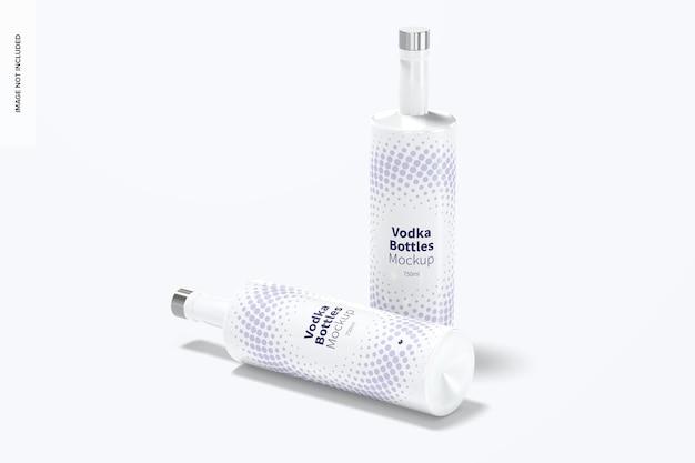 Maquete de garrafas de vodka
