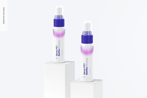 Maquete de garrafas pet spray de 1 oz