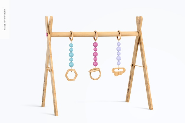 Maquete de ginástica de madeira para bebês