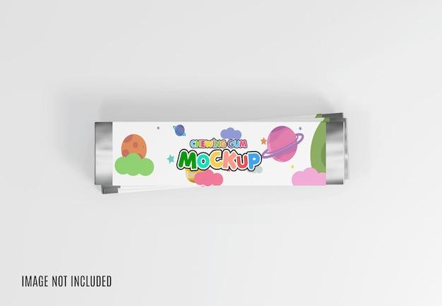 Maquete de goma de mascar