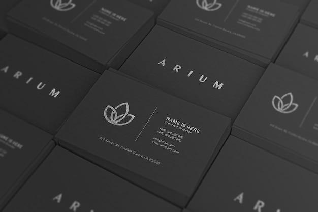 Maquete de grade de cartão de visita de luxo