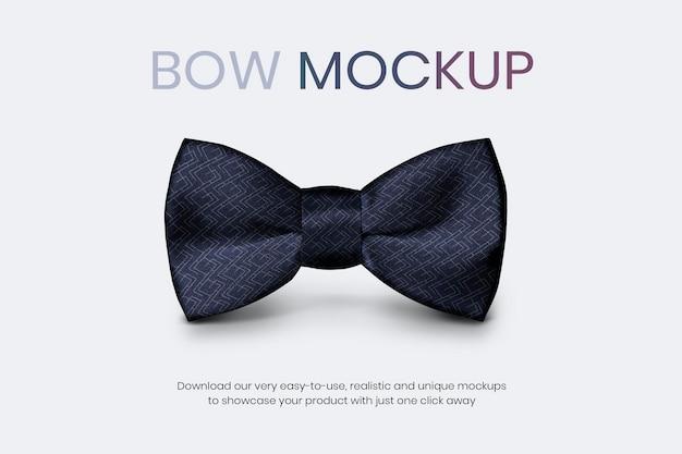 Maquete de gravata borboleta psd comercial de homens anúncio de vestuário