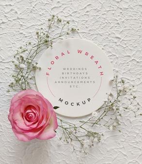 Maquete de grinalda floral