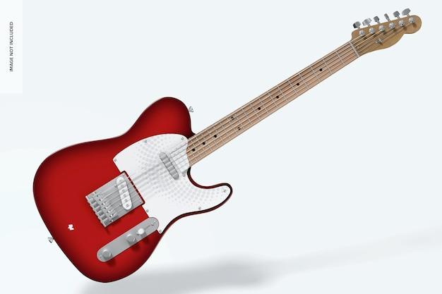 Maquete de guitarra elétrica, queda