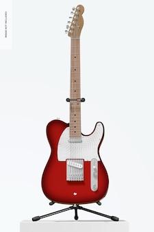 Maquete de guitarra elétrica, vista frontal