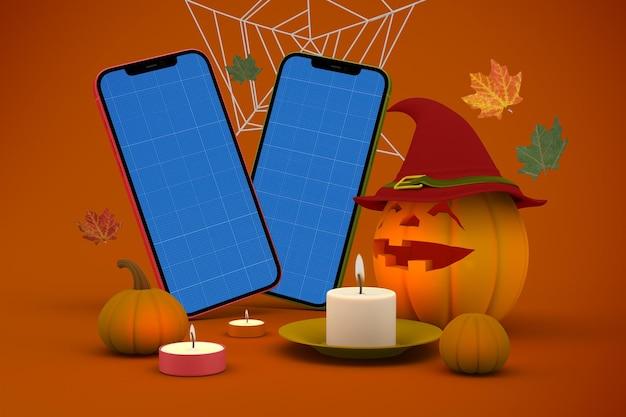 Maquete de halloween do telefone