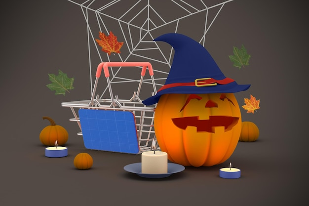 Maquete de halloween para compras