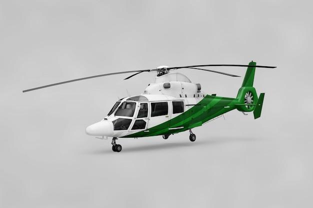 Maquete de helicóptero realista