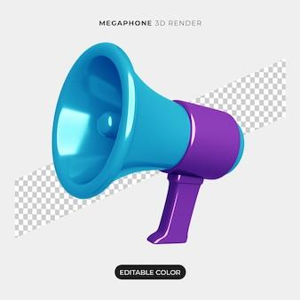 Maquete de ícone de megafone 3d isolada