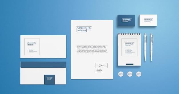 Maquete de identidade de marca definido para