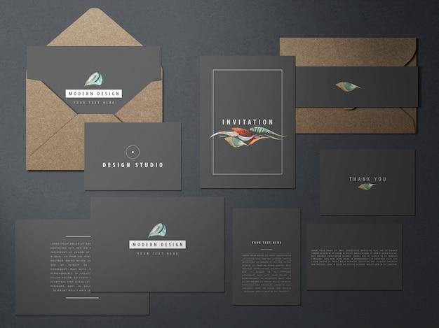 Maquete de identidade de marca moderna
