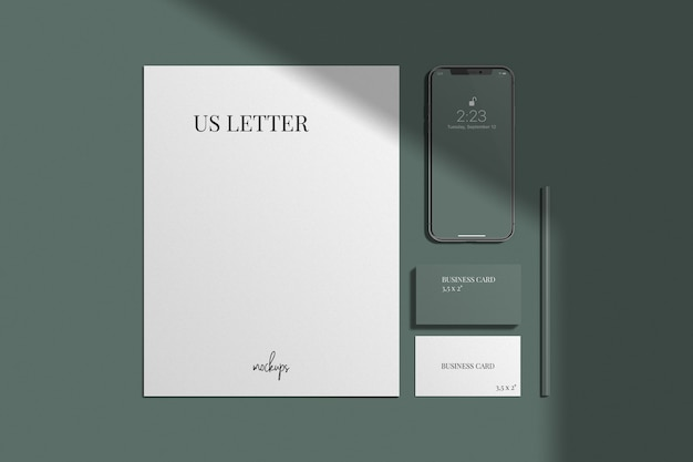 Maquete de identidade visual / marca elegante