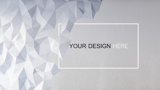 Maquete de imagem de renderização 3d de muro de concreto