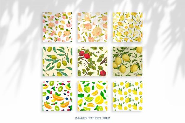 Maquete de imagens quadradas claras