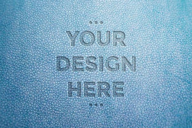 Maquete de imprensa de couro azul