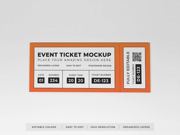 Maquete de ingresso de evento realista Psd Premium