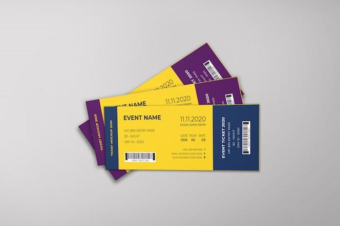 maquete de ingressos para eventos