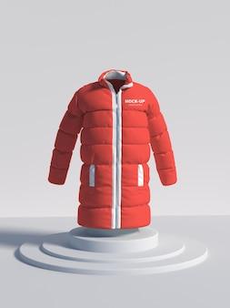 Maquete de jaqueta de inverno
