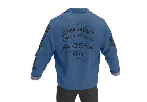 Maquete de jaqueta jeans