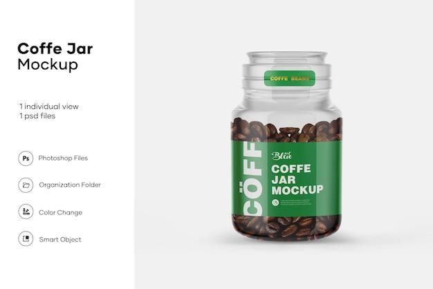 Maquete de jar de feijão de café