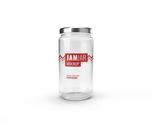 Maquete de jarra de vidro transparente realista