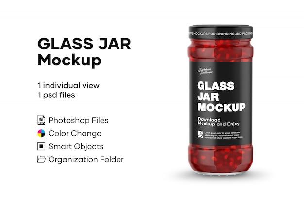 Maquete de jarra de vidro