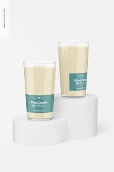Maquete de jarras de vela de vidro