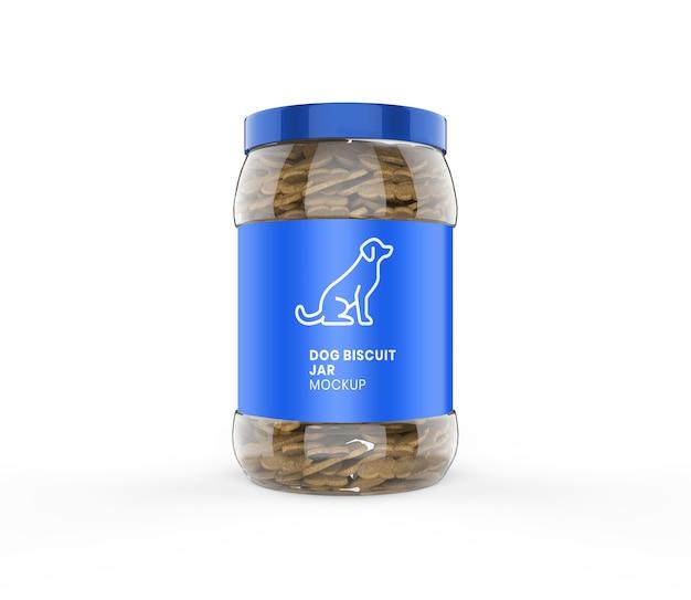 Maquete de jarro de biscoito de cachorro