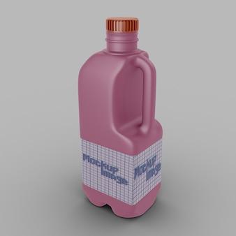 Maquete de jarro de leite de plástico isolado
