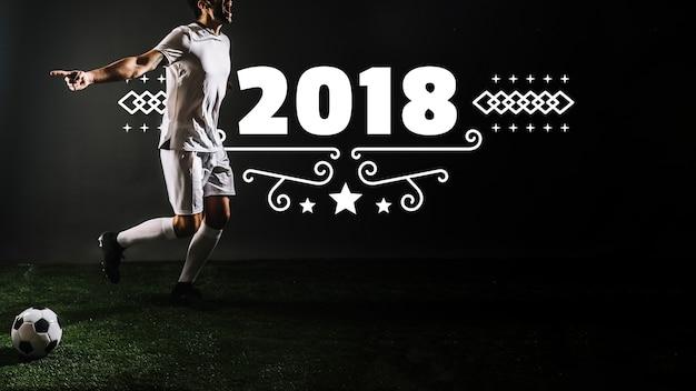 Maquete de jogador de futebol