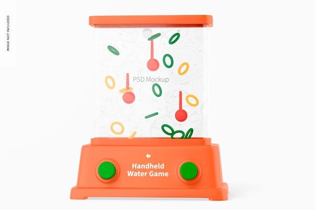 Maquete de jogo aquático portátil, vista frontal
