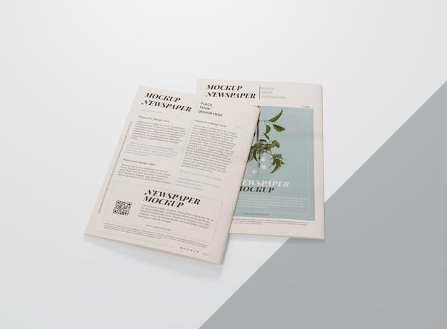 Maquete de jornal de mídia