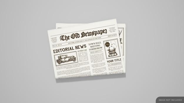 Maquete de jornal dobrado