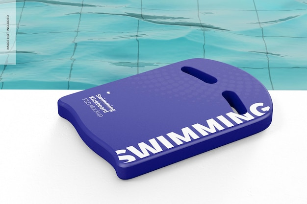 Maquete de kickboard de natação