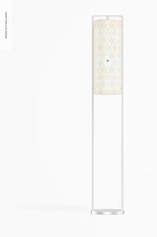 Maquete de lâmpada de estrutura de ferro em pé