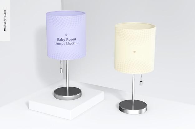 Maquete de lâmpadas de quarto de bebê