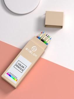 Maquete de lápis colorido