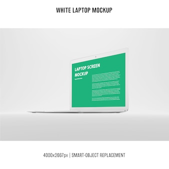 Maquete de laptop branco
