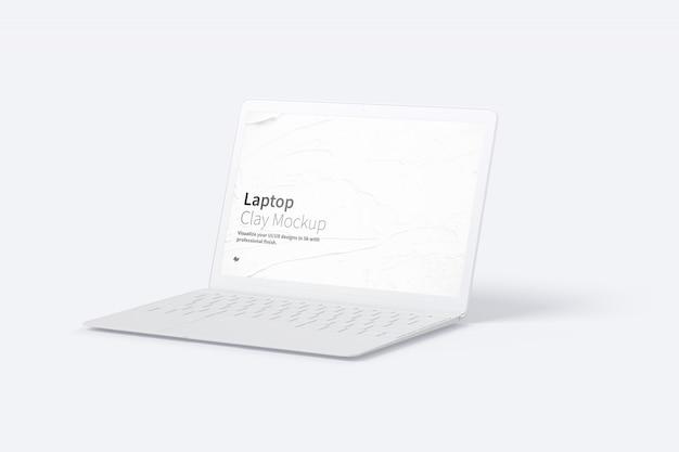 Maquete de laptop com tela em branco