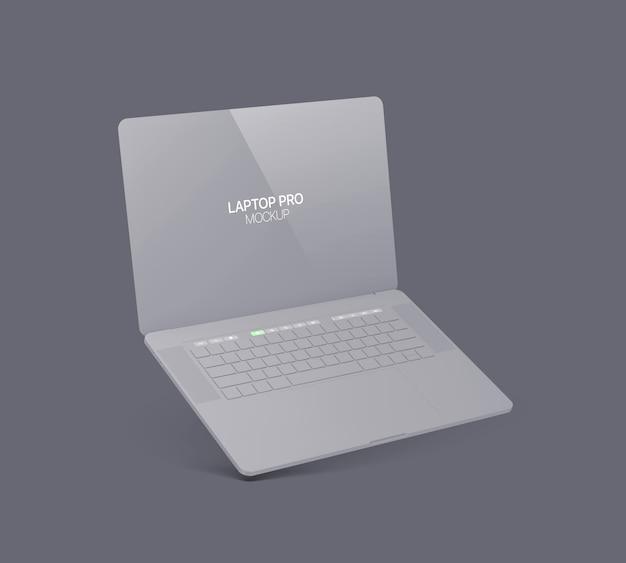 Maquete de laptop de argila laptop