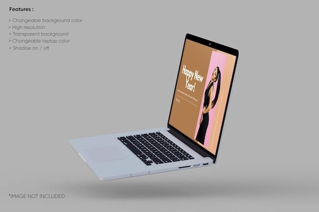 Maquete de laptop em tela inteira