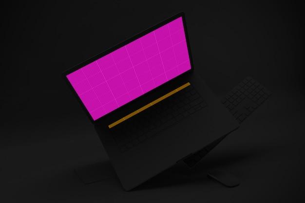 Maquete de laptop escuro