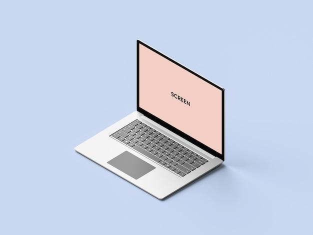 Maquete de laptop isométrico