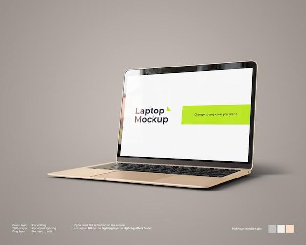 Maquete de laptop parece vista certa