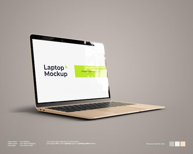 Maquete de laptop parece vista esquerda