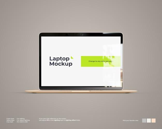 Maquete de laptop parece vista frontal