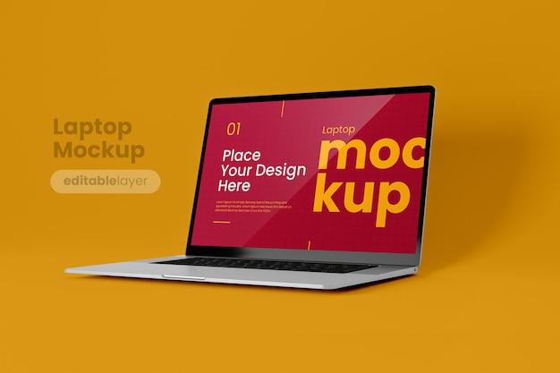 Maquete de laptop premium em estilo minimalista