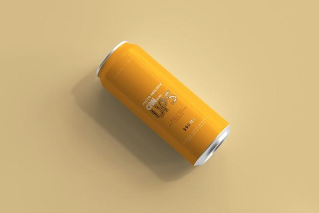 Maquete de lata de alumínio 500ml isolada